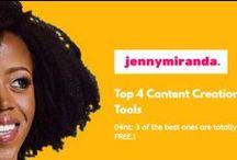 Content Marketing / content marketing, content marketing tips, blog posts, blogging, podcasts, infographics, live video, facebook live, instagram, pinterest snapchat, website