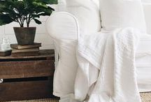 Living & Family Rooms / Living Rooms, Family Rooms, Sofa, Couch, Sectional, Coffee Table, Coffee Table Decor, Pillows, Throws, Farmhouse Style, White, DIY, Interior Design,  Decor Ideas