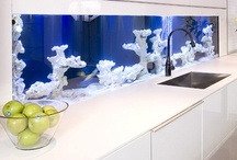 Aquarium in interiors...