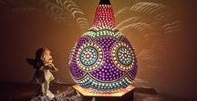 Handmade Authentic Gourd Lamps /  Please contact via gourd_arts@hotmail.com for any inquiry.