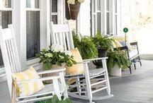 Porches & Patios / Porch, Patio, Front Door, Back Door, Farmhouse, Welcome, Decor Ideas, House, Home, Home Exterior,