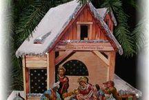 Krippen - Papierkrippen - Paper Nativity Scene - Paper Creches / Papierkrippen, alte und neue Modelle.
