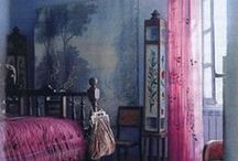 Interior - vintage and velvet / Rooms and details with lots of colour and vintage feeling