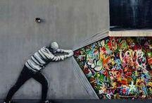 Street Art / Street Art, Graffiti, Painting, installments.  Keywords: Illusions, Urban, Banksy, Amazing, Cool, Paint, Artist, City, Design, Takeovar