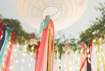 Jour de fête / Mariage, jolies tables, guinguette