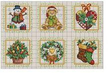 Kreuzstich - Weihnachten - Cross Stitch - Christmas / Kreuzstichvorlagen zu Weihnachten - Christmas - Jul - Kerstmis - クリスマス