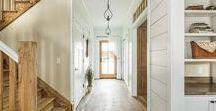 Hallways & Stairs / hallways, doors, stairs, wainscoting, farmhouse style, wood trim