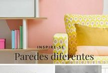 Differente wall painting - Paredes com pintura diferente