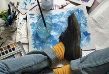 → artsy / creative spirit.