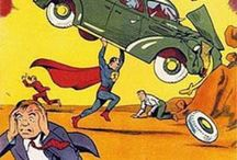 Cover Tributes to Action Comics #1 / A bunch of tributes, homages, references, nods, rip-offs, swipes, et al. to the iconic cover of the first appearance of Jerry Siegel and Joe Shuster's Superman