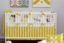 Yellow Nursery Design Ideas / Lots of trendy celebrities are picking a bright yellow color for their nurseries! Yellow pairs well with white, black and gray. Add some sunshine to your nursery! / by Personalized Baby Gifts, Baby Blankets & Nursery Bedding