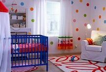 Colorful Nursery Design Ideas / Not sure what color to choose for a baby nursery? You can use them all! / by Personalized Baby Gifts, Baby Blankets & Nursery Bedding