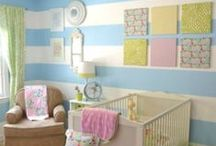Stripes & Nursery Design Ideas / Browse through our gallery of nurseries with shapes/stripes for some inspiration / by Personalized Baby Gifts, Baby Blankets & Nursery Bedding