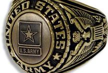US Army Rings / Our Military Rings for the Army come in a variety of gold, silver, rhodium and more. / by PriorService.com