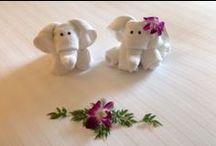 Toallas • Folded towels / Sorprende a tus invitados plegando las toallas con formas de animales y otras figuras como en muchos hoteles; además a los niños les encantan. • Folded towels. Animals and other figures, DIY.