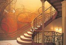 subir y bajar / escaleras, arquitectura