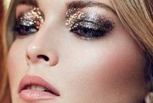 Metallic and glitter make up