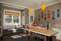 Home office ideas / Work space ideas, work flow ideas and organization ideas