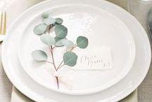 WEDDING TABLE SETTINGS / Beautiful styled wedding tables.