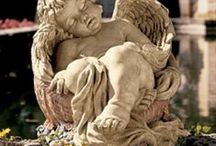 Garden Sulptures and Statues / statues and sculptures of art included / by gayle levraea