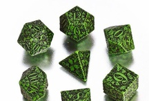 Forest RPG dice / New dice, with the power of ancient forest. Found in the limb of the huge oak, which has filled them with his power and knowledge. These dice have witnessed great battle of Ents, passing years caused, that they almost merged with surrounding environment.
