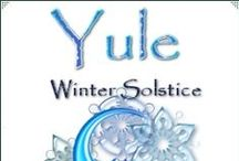 Pagan Holidays - Yule / December 21st - aka Yuletide, Winter Solstice, Midwinter. A time of renewal and rebirth. Symbols of Yule are the Yule tree & log, evergreens, pine, lit candles, feasts, gift giving, wreaths, ivy, holly, yew, mistletoe, gifts, goat, boar   / by Kat Woodfill Childress