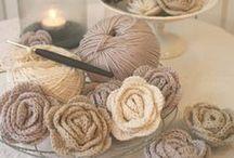 Crochet - flowers, leaves