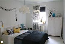 MY SCANDINAVIAN BEDROOM/ Nasza sypialnia / black & white, scandinavian design, bedroom, stars, diy/ biało-czarny wystrój, styl skandynawski, sypialnia