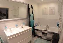 MY SCADINAVIAN BATHROOM/ Nasza łazienka / black & white, scandinavian design, bathroom/ czarno-biały wystrój, styl skandynawski, łazienka