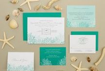 Beach Wedding Invitations / Beach, ocean & marine-themed wedding invitations.