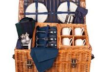 The Balmoral Picnic Hamper - Picnic like Royalty from Braemar to Bondi / Our Balmoral luxury picnic hamper is a serious picnicker's joy. The extra deep basket holds quality fittings such as the crystal wine glasses and a pure wool picnic rug. Wherever you want to eat with friends or family this hamper will ensure a truly memorable picnic. Available in Oxford Blue or British Racing Green in a 4 person place setting.  Buy online at www.amberleyhampers.com