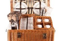 The Safari Luxury Picnic Hamper - Perfect whatever game you happen to be watching / A wonderfully deep, beautifully woven wicker basket has room for all you need. The Safari Picnic Hamper is perfect for those dreamlike summer days watching the cricket, the polo or just the world drifting by as you relax with friends. English bone china cups and saucers will ensure that your picnic is as stylish as it is timeless.  Available in Buff Cream in a 4 person place setting.  Buy online www.amberleyhampers.com