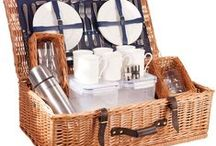 The Somerset Luxury Picnic Hamper - Perfect for a picnic / This is the hamper for that picnic where no ceremonials are needed. Simple, tried and tested, the Somerset is a luxury you can take anywhere. Toughened glass lends practicality and the high quality of the wicker makes it robust.  Available in Oxford Blue in a 2, 4 and 6 person place setting.  Buy online at www.amberleyhampers.com
