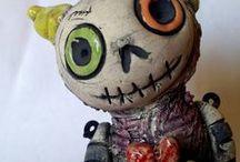 art doll by claylart / OOAK doll art ceramic sculptures ceramic art