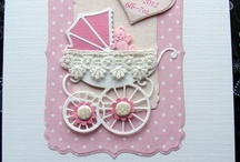 Baby Cards by Crafteresa / A collection of my baby card samples available for sale to order from my Etsy shop.most can be personalised with baby name date weight, all cards are available for Birth, Christening, Baby Shower, Adoption, Congratulations, if you can't see what you require please contact me