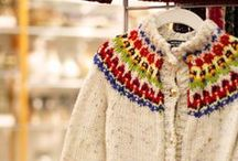 Carolynne Gieryn / Carolynne designs and hand-knits sweaters, jackets, hats, socks, and scarves for both adults and children.  She primarily uses natural fibers with a goal to create beautiful, colorful, useful items.