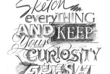 Typography hand drawn text