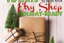 Holiday Shop and Website Planning / Tips for preparing for the busiest shopping season of the year.   #crafter #handmadebusiness #handmadeartist #entrepreneur #smallbusiness