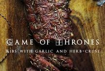 Game of Thrones Inspired Food Ideas / From Winterfell to Bravos, this board has food favorites that will please everyone in the Seven Kingdoms!
