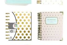 Office Supplies / Outfit your office with these pretty office supplies-- pens, paper, tape-- oh my!