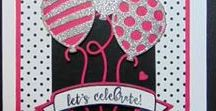 Balloon Cards / simply cards with die cut, punched or stamped balloons