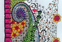 Zentangles, patterns etc
