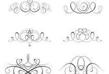 kalligrafikus minták