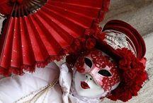 Masquerades, Fans ,burlesque  / Wedding balls headpieces fancy dress / by Junes LookUNiQUE
