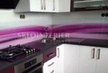 Sklenené kuchynské zásteny / Grafické sklo - grafosklo - sklenená kuchynská zástena