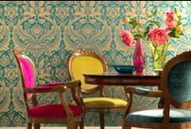 Elegantly Pasted / Take a look at some of our favourite opulent wallpapers. Take inspiration from the way home builders and renovators have mixed bright colours, metallics, paints and home furnishings all together.