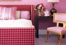 Pink & Gold Hues / Reno Is Loving: pink hues coupled with royal gold. It's so decadent and such a design statement.