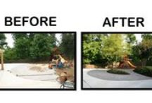 """Our Portfolio-""""Before & After"""" / """"Before And After"""" Landscape Project Photos"""