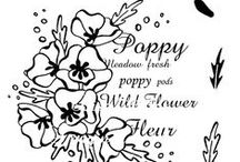Floral Collage Botanical Stamp Sets by Lisa B / Stamp sets created & designed, exclusively for Imagination Crafts, by Lisa B.