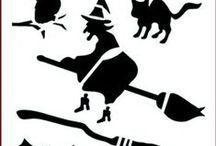 Imagination Crafts Halloween Stencils / High quality Mylar stencils. 152 x 152mm (6 x 6 ins)